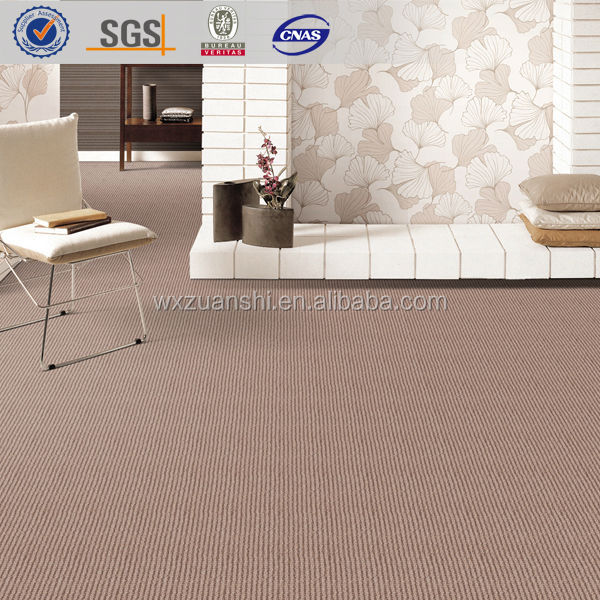 LangShi 02, wholesale commercial loop pile plain wool blend casino lobby carpet