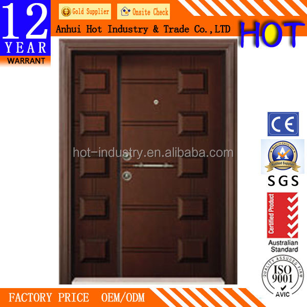 Turkish Steel Wooden Door Armored Steel Security Doors Modern Design Mother and Son Door