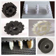 Injection mould molded split or one-piece plastic nylon conveyor sprocket
