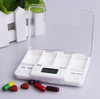 digital pill box, pill case, pill box with alarm, drug box, pill box with alarm timer