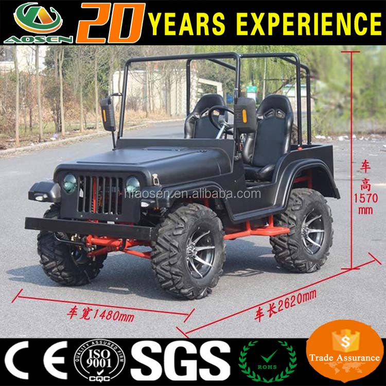 Hot sale off road 2 seat gasoline hunting buggy golf carts