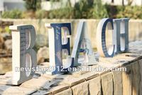 "FU-13758 decorative ""BEACH"" wooden carved letters"