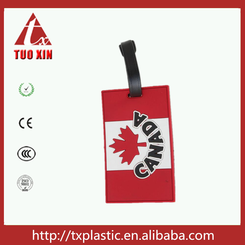 High quality wholesale PVC cartoon luggage tag /2D soft pvc luggage tag