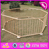 2015 Cubby Plan kids with-door 8 panel play yard large,Promotional gift wooden baby playpen wholesale W08H006-A1
