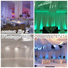 wedding back drop, wedding pipe and drape