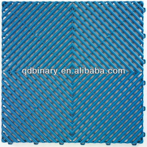 interlocking plastic pvc flooring tiles