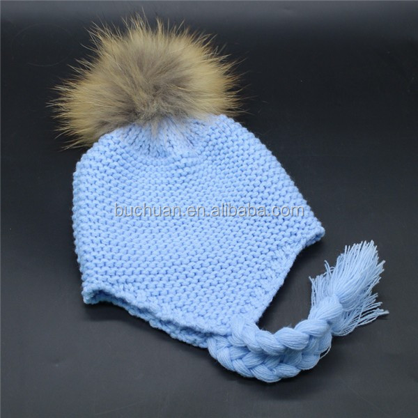 Baby Love Beanies Warm detachable Pompom Knitted 100% Wool Kids Hats