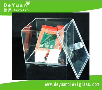 Mini Transparent Acrylic Candy/Favor Box Display In Cube With Lids