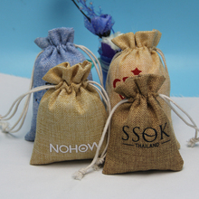 2015 salable eco fancy small burlap bag packing seeds,drawstring seed packaging bags wholesale