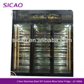 Electric Wine Beverage Display Refrigerator Store Supermarket Glass Fridge Temperature Humidity Control