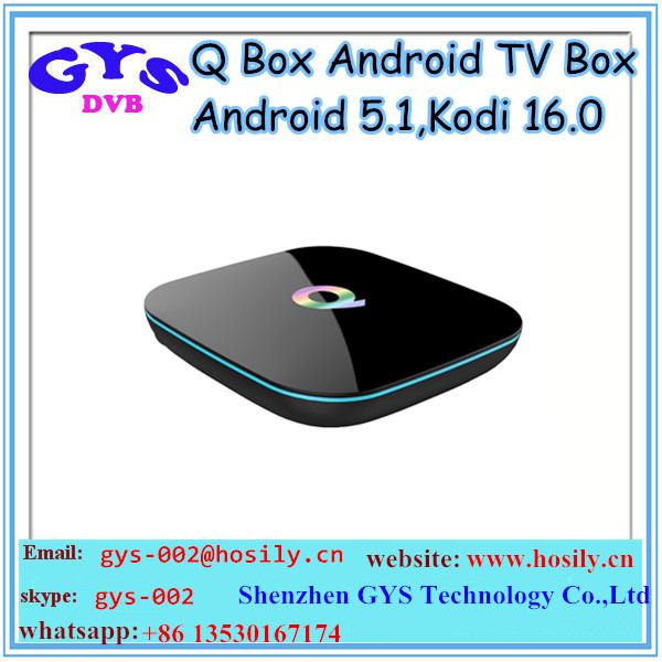 Android tv box QBOX Amlogic S905X 2GB DDR3 RAM 16GB EMMC ROM tv box android tv box fully loaded