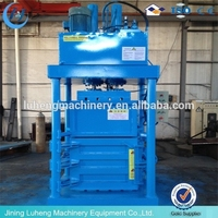 different hydraulic force baler machine for used clothing with lifting chamber