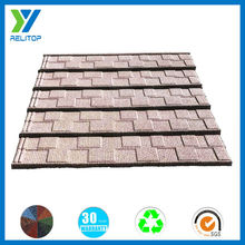 Water proof stone coated galvanized shingles colored steel roof tile