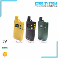 no battery one way radio wireless voice walkie talkie amplifier from China