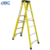 Cheap price single side color with plastic tray insulation fiberglass step ladder