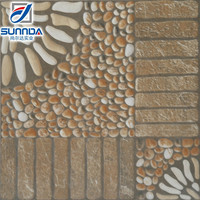 400X400MM rough surface kitchen/bathroom,outdoor,balcony pebble stone tile