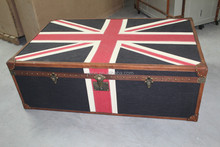 England coffee table, vintage industrial coffee table, storage trunks