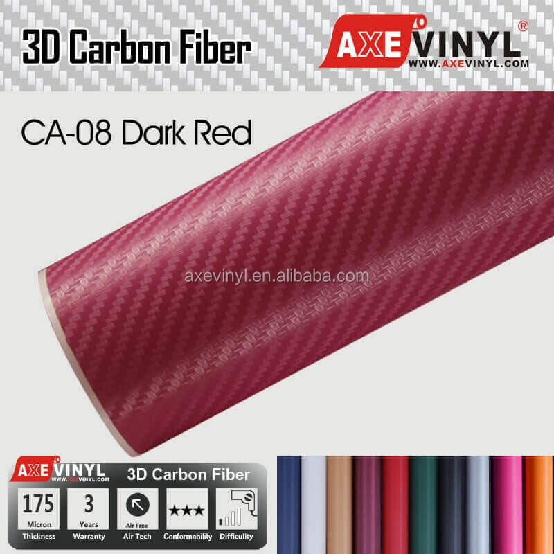 AXEVINYL Air Bubble Free 2D 3D 4D 5D Carbon Fiber Vinyl For Car Wrapping