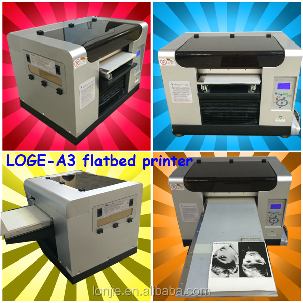 A3 desktop eco solvent flatbed printer for phone cases printing