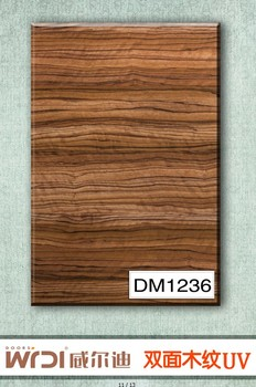 50% discount New double side wood grain design mdf grill panels DM1238