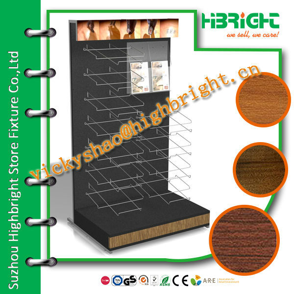 Floor peg board display rack for phone accessory retail