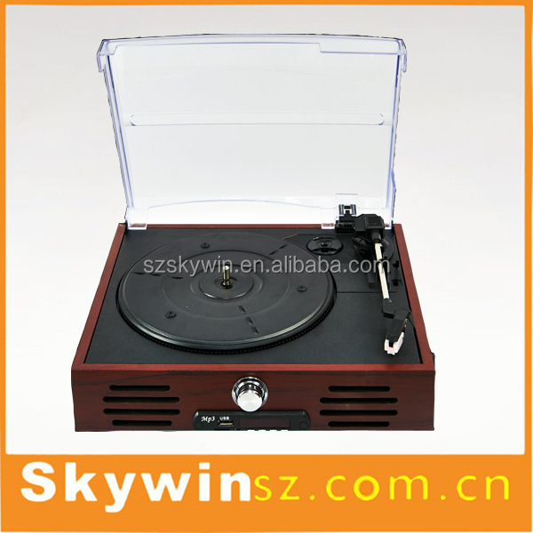 2016 Newest hot wooden vinyl record player LP vinyl turntable player