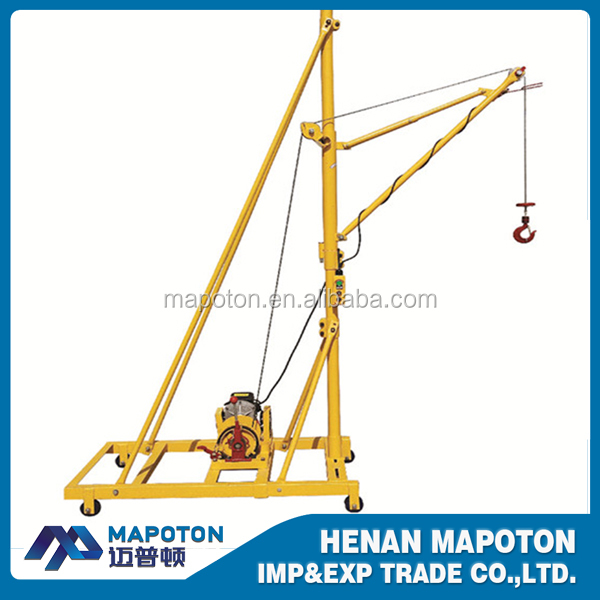 Hand Operated Small Crane Mobile Hoist Monkey Lift Mini Crane