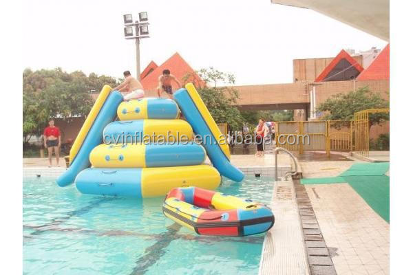 High Quality Giant Inflatable Floating slide ,water iceberg, climbing toys