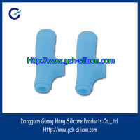 Customized soft comfortable silicone protective cases for walking cane