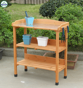 garden working table outdoor potting table wooden furniture designs for sale