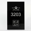 Top Quality Tempered Glass Hotel Electronic Doorplate with Touch Doorbell Switch and Do Not Disturb Sign