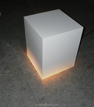 nigh club or <strong>bar</strong> hollow out decorative pattern white light up coffee table