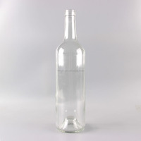 GLS-B75029-01 750ml (26.5oz) Flint Glass Wine Bottle with Deep Bottom In Stock, Wholesale
