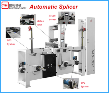 DINGYU Automatic butt splicer promote automatic offset printing machine 45% production capacity