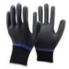 NMSAFETY 15 gauge black Nylon Nitrile Gloves Nitrile coated Safety Gloves Hand Protecting Gloves