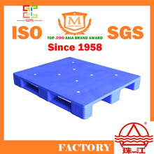 HDPE Transport Plastic Pallet in black or blue or customized color made in China factory 1200 x 1000 mm
