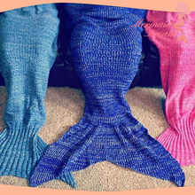 Professional kids thick mermaid tail blanket with CE certificate