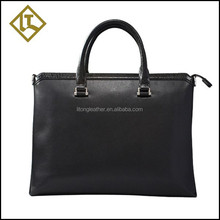 Brand designed top grain cowhide Italian leather briefcase