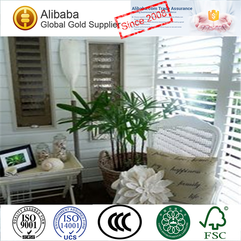 Perfect Plantation Window Shutters with Factory Price for Home Bathroom Plantation Shutter