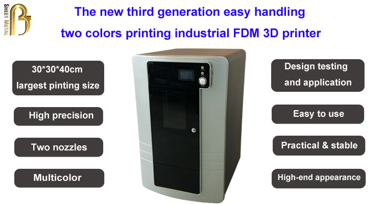 CE certificated practical and stable large industrial FDM 3D printer for sale