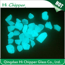 glow in the dark blue green glass