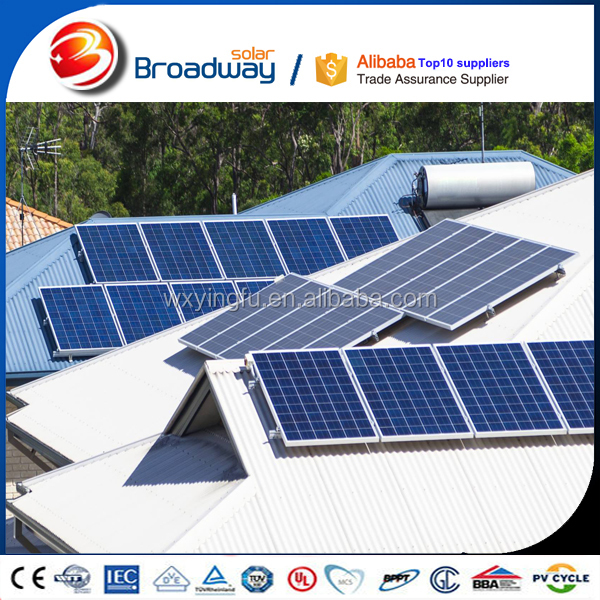Photovoltaic systems pv module 310w 320w solar panel backsheet black