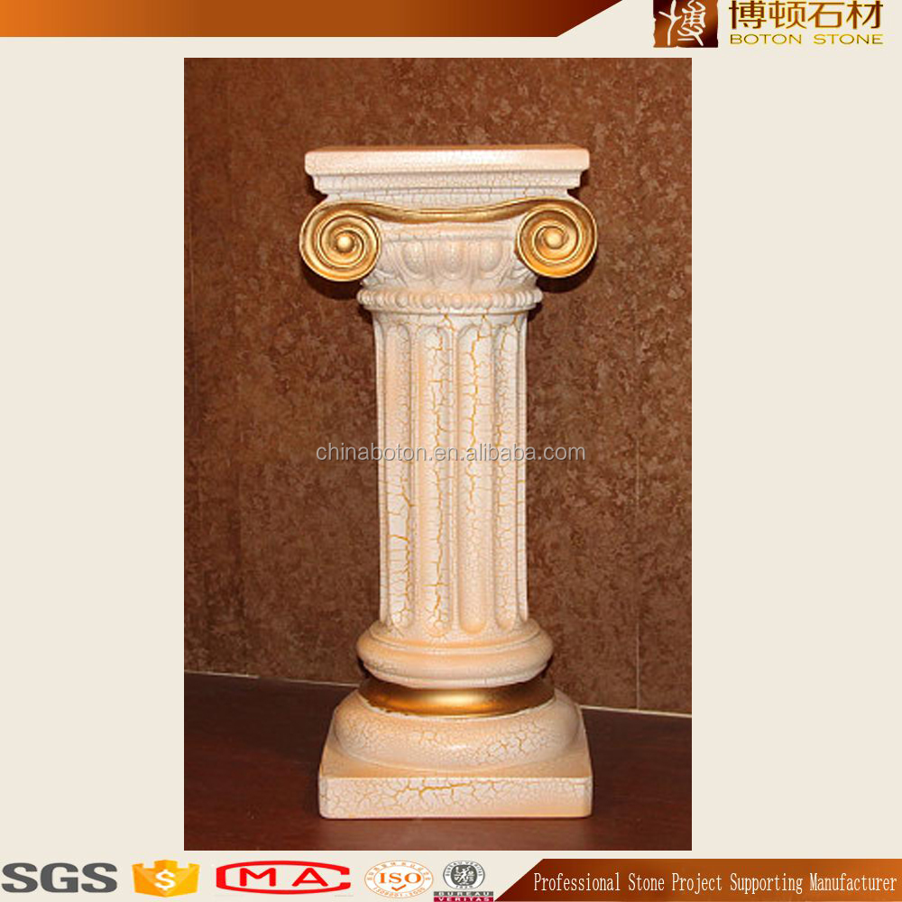 2016 classic golden granite solid pillar customized designs for construction projects