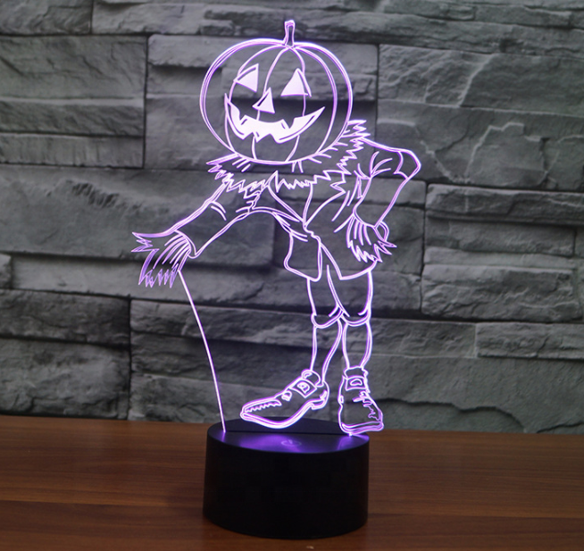 Factory direct wholesale pumpkin 3D lights colorful lights gift Nightlight 3D <strong>101</strong>