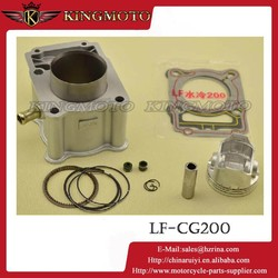 KM 20150717 Motorcycle 200cc Big Bore Cylinder Kit 58.5mm Piston Rings LF-CG200 125 150cc Scooter