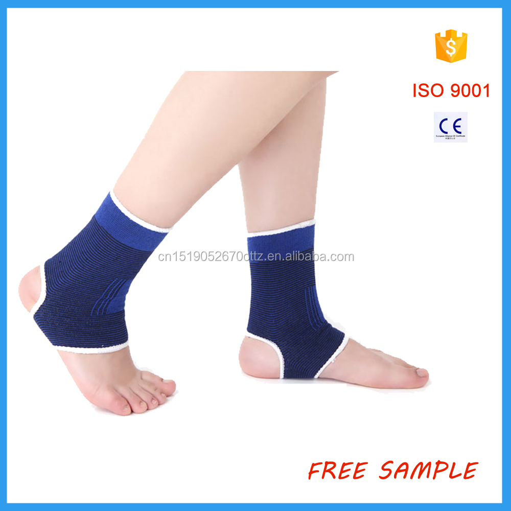 Knitted elastic adjustable ankle support