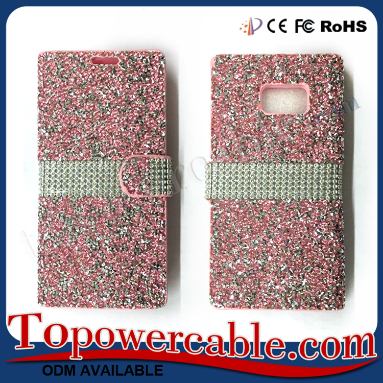 Bulk Buy Best Bling Leather Flip Mobile Phone Cases Covers For Samsung Galaxy Note 7
