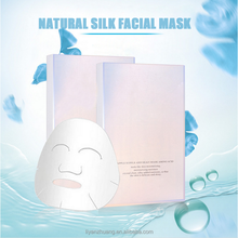 100% Natural Cosmetic Silk Facial Mask Korea Cosmetic Collagen Whitening Mask Sheet