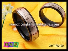 fashion 316l stainles steel ring with magnets for christmas gift