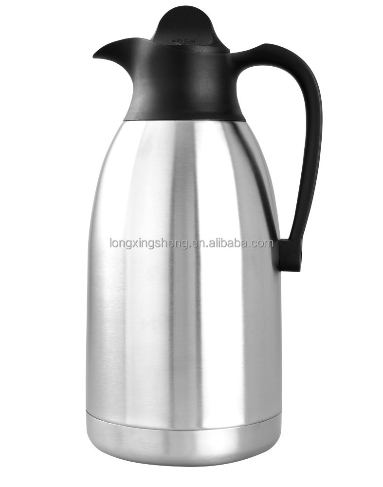 wholesale high grade double wall SS arabic vacuum flask/tea thermos/coffee pot for Middle East